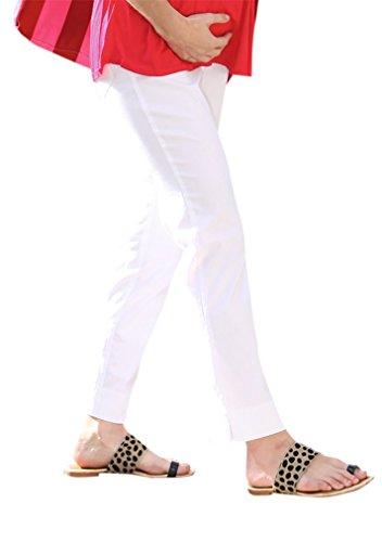 Christoff - Pantalon - Coupe Droite - Femme Blanc