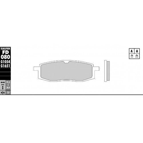 GALFER Pastiglie Freno Anteriori standard–YAMAHA YZ 125250