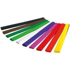 Krepppapier 250x50cm, 32g/qm, 10 Rollen in 10 Farben