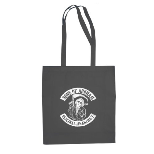 Planet Nerd Sons of Arkham - Stofftasche/Beutel, Farbe: grau
