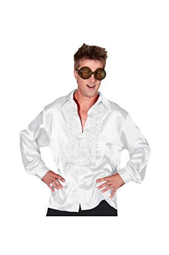 Chemise disco homme-Blanc-XL (Kostüm Chemise Blanche)