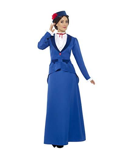 Smiffys Damen Vikorianisches Kindermädchen Kostüm, Jacke mit Oberteil, Rock und Hut, Größe: M, 46753