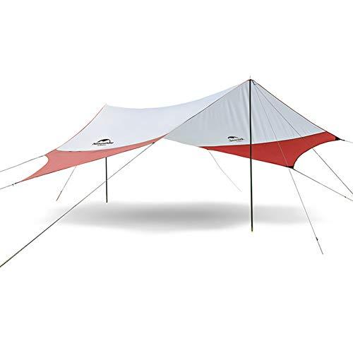 CarCover Camping-Plane, Strandzelt, Sonnenschutz, wasserdicht, tragbar, kompakt, für Kinder und Familie am Strand, Parks und im Freien, rot, M