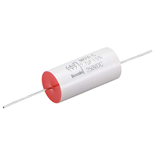 Sourcingmap Folienkondensator 250 V DC 2,7 uF rund axiale Polypropylen-Folie Kondensator für Audio-Trenner -