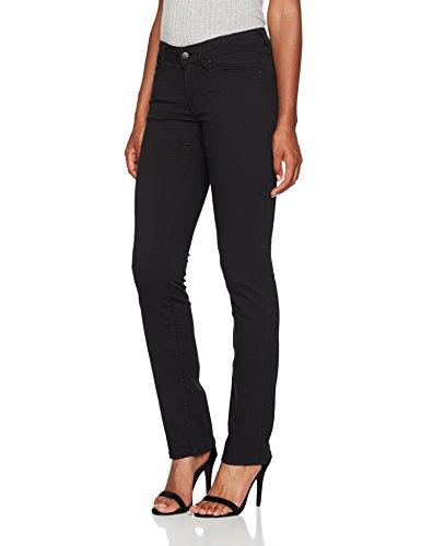 Mavi Olivia Damen Straight Jeans,Schwarz (Double Black STR 23746),W27/L30