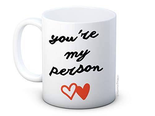 You're My Person - Grey's Anatomy - haute qualité café thé tasse