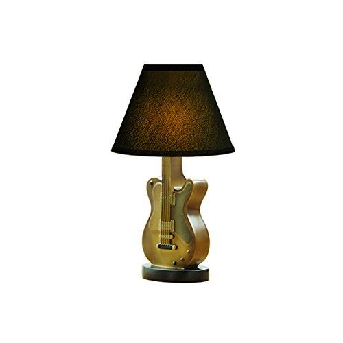 XUANLAN Amerikanische Harz Gitarre Tischlampe, moderne einfache LED Nachttischlampe, Kinder Schlafzimmer Schlafzimmer Dekoration Lampe ( Color : B )