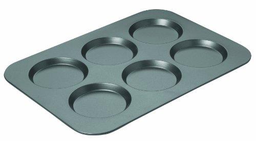 Chicago Metallic Professional Antihaft-Backform für Muffins 6-Cup Muffin Top Pan Standard grau 6-cup Muffin Pan