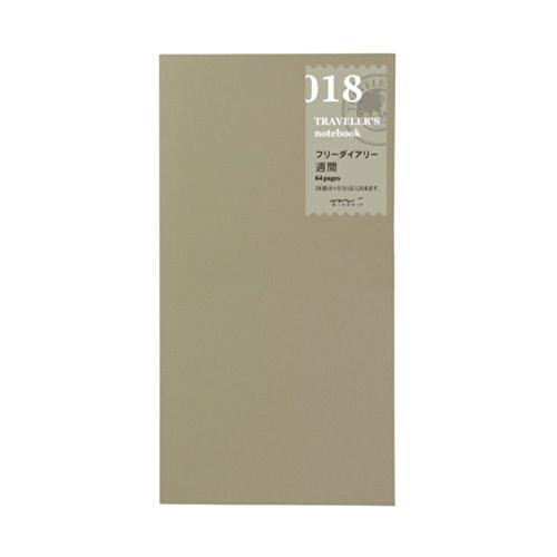 Midori Free Diary Weekly Refill Midori 018 per Traveler's Notebook Regular Size