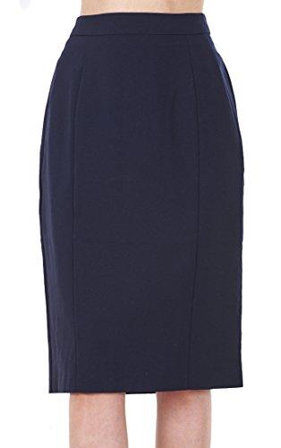 BHS Ladies Knee Length Navy Work Womens Office Lined Pencil Skirt