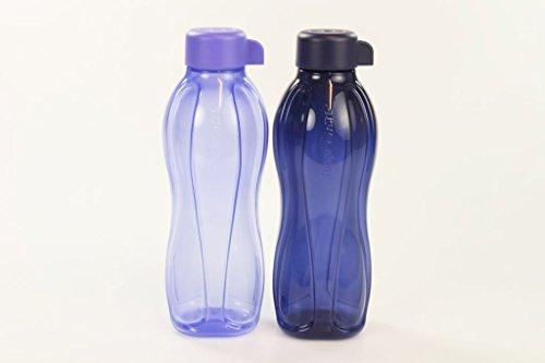 TUPPERWARE To Go Eco Trinkflasche Ökoflasche 500ml hell lila + dunkelblau 29971
