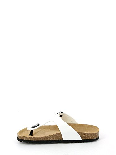 Grunland Sara femmes, synthétique, flip-flops Bianco