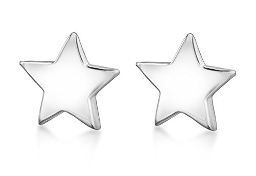 Tuscany Silver Sterling Silver Polished Star Stud Earrings