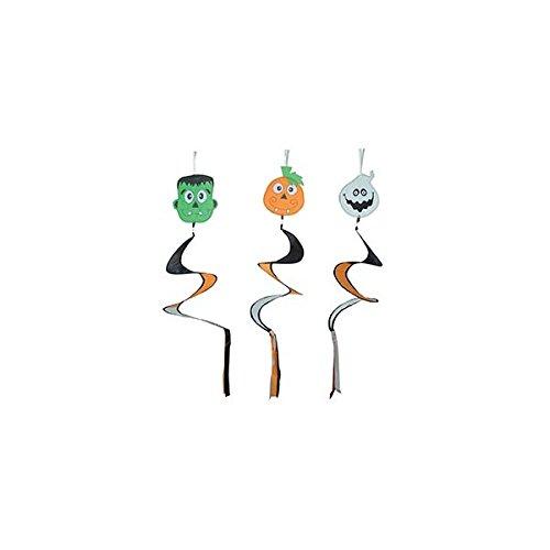 oween Garten Wind Spirale Dekoration Hängen Prop Twister - Packung mit 12 ()