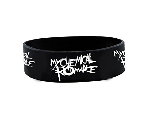 Official MY CHEMICAL ROMANCE Silicone Wristband Scratch LOGO Black Parade