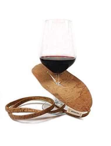 WEINGLASHALTER, Weinglashalter aus Kork, Wine Glass Holder, Weinschaukel, Weinglas Halter für den Hals, weinglashalter zum um hängen, Weinschaukel