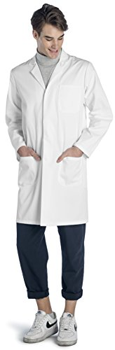 Dr. James Weißer Unisex Laborkittel 100% Baumwolle Hohe Qualität DE-03-M