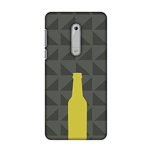 Amzer Slim Fit Handarbeit Designer Printed Snap On Hard Shell Schutzhülle Back Cover mit Bildschirm Reinigungs-Set Skin für Nokia 5-Rost Braun HD Farbe, Ultra Light Rückseite Fall -