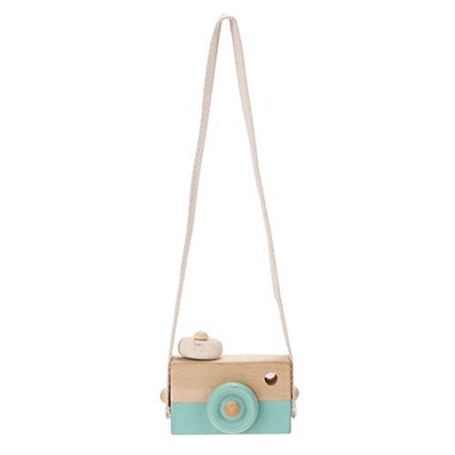 Lalang Niedliche Baby Kinder Holz Kamera Spielzeug Kindermode Bekleidung Accessory Zubehör,Als beste Geburtstagsgeschenk für Baby (Grün) (Baby-kamera-spielzeug)