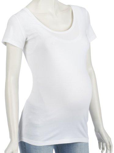Noppies Shirt sh. sleeves round neck Lely 60502 Damen Umstandsmode Shirts/T-Shirts, Gr. 42 (XL) Wei (white) (Sh Sleeve Shirt)