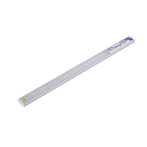 JCZR Berühren Sie Aufladenlichtleiste LED-Licht, Das Helle Wandleuchte Nachtlicht Verdunkelt,Silver-aluminumalloy