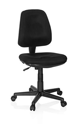 hjh OFFICE 666001 Home-Office Bürostuhl City 15 Stoff Schwarz Drehstuhl bequem gepolstert, höhenverstellbar