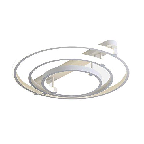 LQUIDE Helle LED Halle Dekoration Deckenleuchte 110W Ring Design Wohnzimmerlampe Schlafzimmerlampe Modern B&uumlro Deckenlampe Fernbedienung Dimmbar...