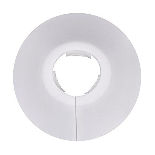 12 Pièces Colliers de Pipe Couvercles de Tuyaux de Radiateur en Plastique pour Tuyau de 15 mm de Diamètre (Blanc)