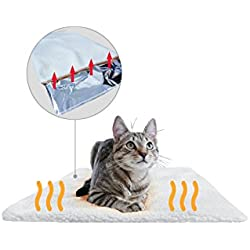 Premium Manta térmica para gatos & perros de PiuPet® | Tamaño: 60x45 cm | Autocalentado - sin electricidad y baterías | Cojín de calor | Innovador e ecológico |