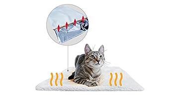 Premium Coussin auto-chauffant pour chat & chien de PiuPet® | Taille: 60x45cm | Sans électricité & batteries | Tapis/Couverture thermique | Innovant & écologique