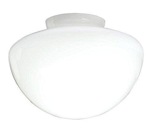 Westinghouse Lighting Westinghouse Lampenschirm 7,5 cm aus satiniertem Glas, Pilzform, weiß, 17.8 x 17.8 x 12.45 cm -