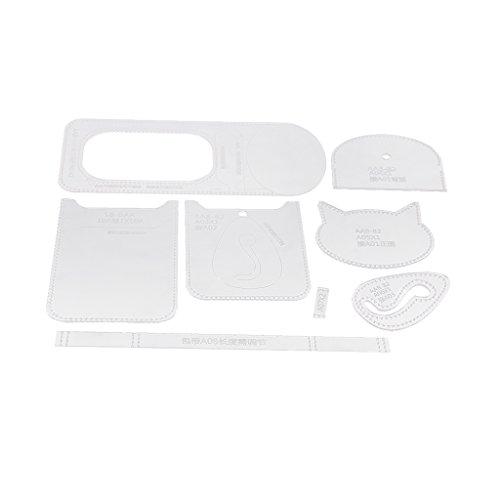 chiwanji 1 Set von strapazierfähigen transparenten Acryl-Schablonen für Lederarbeiten (Acryl-quilt-vorlagen)