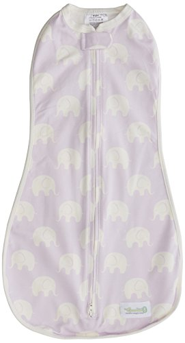 Pucksack Woombie Original Muted Violet - einfach zu verwendender Baby-Schlafsack zum Pucken für Neugeborene bis zu 3 Monaten mit einem Gewicht von 2,5 bis 6 kg