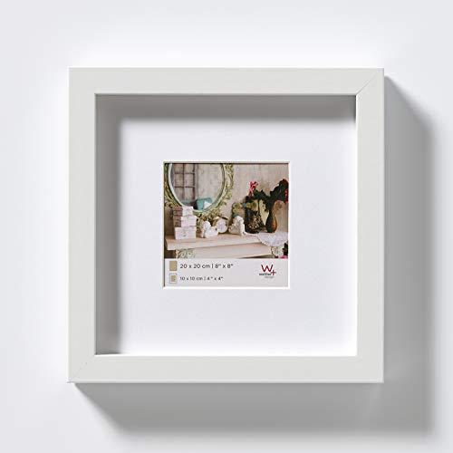 Stockholm 3D Holzrahmen 20x20 cm weiß