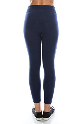 BaumwollSpandex Grund Knit Jersey Regular Plus Size Voll Capri Gamaschen-Hosen Capri Navy
