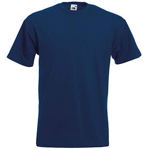 Fruit of the Loom Super Premium T-Shirt Navy L L,Navy