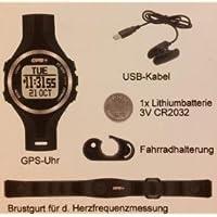 GPS-Uhr mit Herzfrequenzmessung, Kompass, PC-Download, Pulsuhr / NEU!