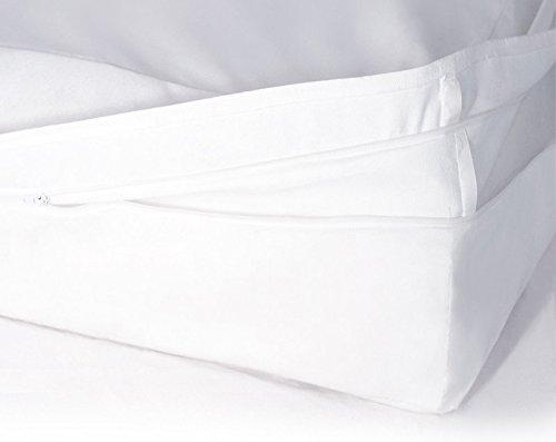 Softsan Matratzenbezug für Boxspring-Matratzen milbendicht 180x200x30 cm, Höhe 30 cm, Encasing, Milbenschutz für Hausstauballergiker milbenkotdicht (Allergen Matratzenbezug)