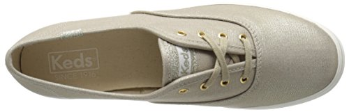 Keds Triple Metallic Canvas, Scarpe Running Donna Oro (Gold)