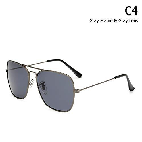 ZHOUYF Sonnenbrille Fahrerbrille Klassische Caravan Stil Polarisierte Quadratische Luftfahrt Sonnenbrille Männer Vintage Retro Marke Design Sonnenbrille Oculos De Sol, D