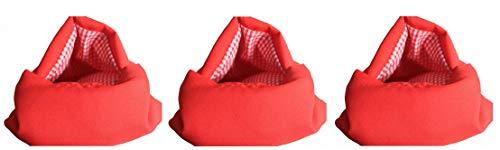 Tiempo 3X Bolsa cocer Patatas microondas Rojo Reutilizable