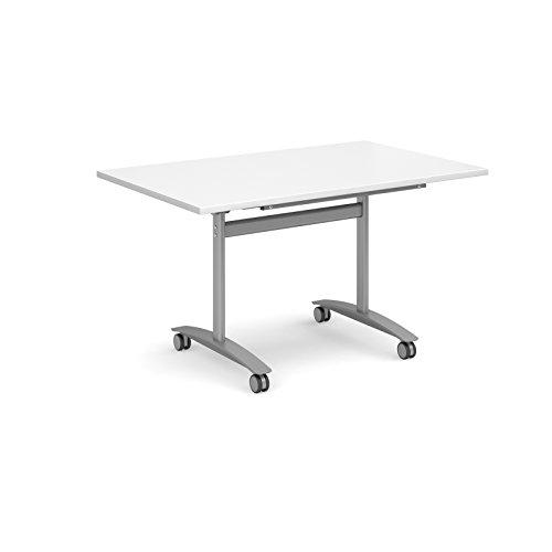 Bureau-lphant-Oe06-flip13wh-droites-Flip-Top-1300-mm-de-large-Runion-Table-en-blanc