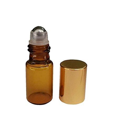 HugeStore 15 Stk 5ml Klein Leer Glasflaschen Braunglasflasche Ätherisches Öl Flaschen mit Rollenkugel