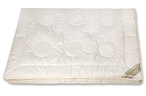 moebelfrank Bettdecke KBA Kamelhaar Ganzjahres-Decke BIO Baumwolle Natur Nadin, Größe:200x200 cm