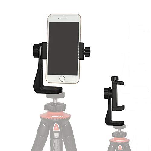 Smartphone Staffa Supporto Lammcou Cellulare con Pinza Regolabile per Treppiede Bastone Selfie Monopiede,Adattatore di Smartphone Universale Supporto Cellulare Rotazione di 360 gradi per Fotografia