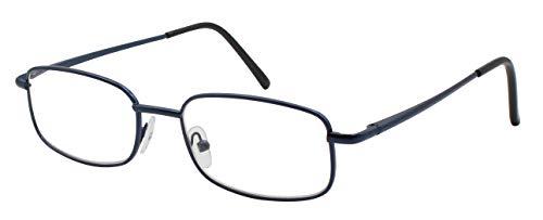 14052cd3b7 TBOC Gafas de Lectura Presbicia Vista Cansada - Graduadas +3.00 Dioptrías  Montura Metálica Azul Ligera
