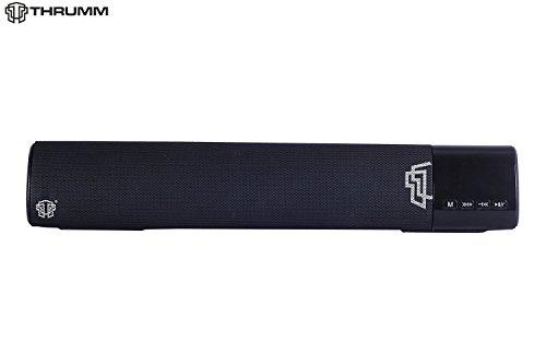 Thrumm Aurora Bluetooth Speaker Soundbar (Black)