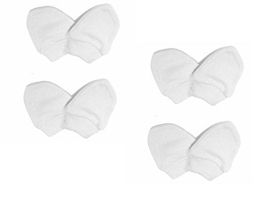 Kratzhandschuhe DUDU N Girlie Neugeborenes 4Paare weiß von Kratzhandschuhe/Fäustlinge-100% Baumwolle (4Paar) Baby-fäustlinge