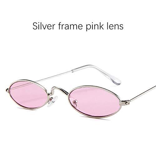 Loving Bird Liebevoller Vogel 2019 Ovale Sonnenbrille Frauen Retro Kleine Sonnenbrille Männer Rote Sonnenbrille für Weibliche Luxusmarke Designer Metallrahmen Brillen UV400, Farbe 8