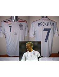 Angleterre bnwot Beckham Brésil Wembley adulte taille M L XL XXL pour homme Jersey de Football de football Umbro New la Galaxy euros - xx-large